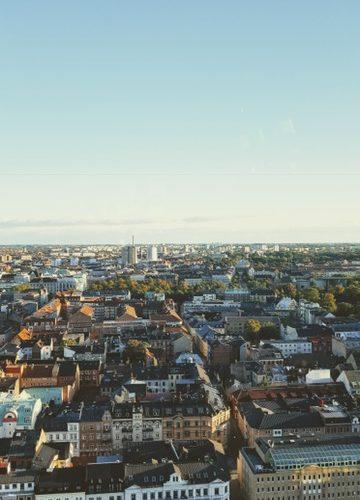 Bild från ovan över Malmö.