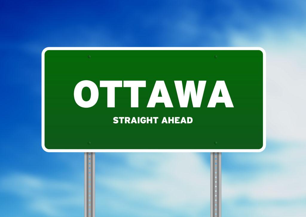 Skylt där det står Ottawa.