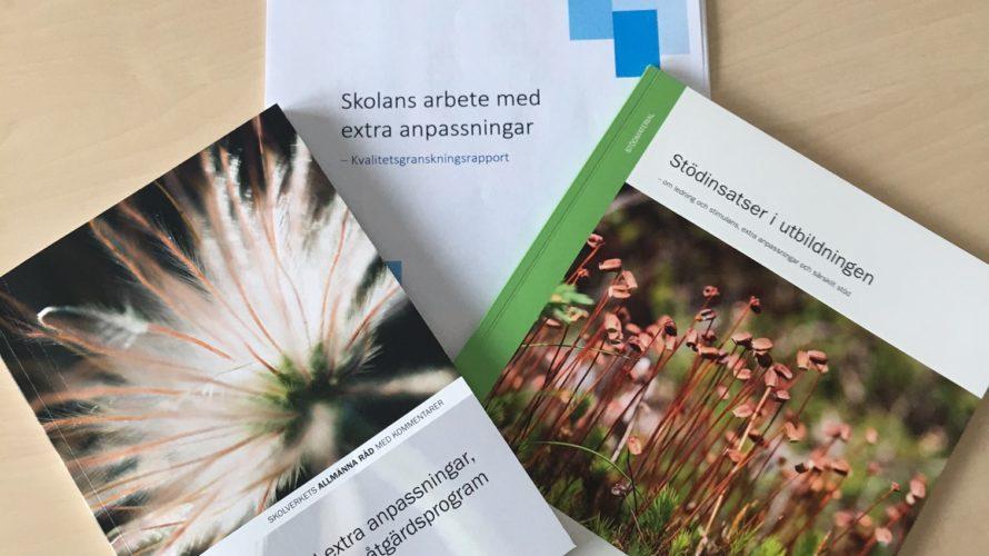 Tre omslag till material från Skolverket.