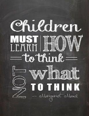 Svart tavla om att lära sig att tänka.