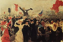 Målning av franska revolutionen.