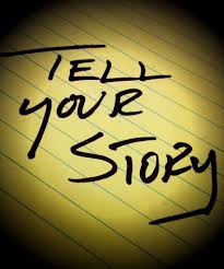 """Texten """"Tell your story""""."""