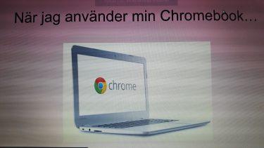 Bild på dator av en dator.