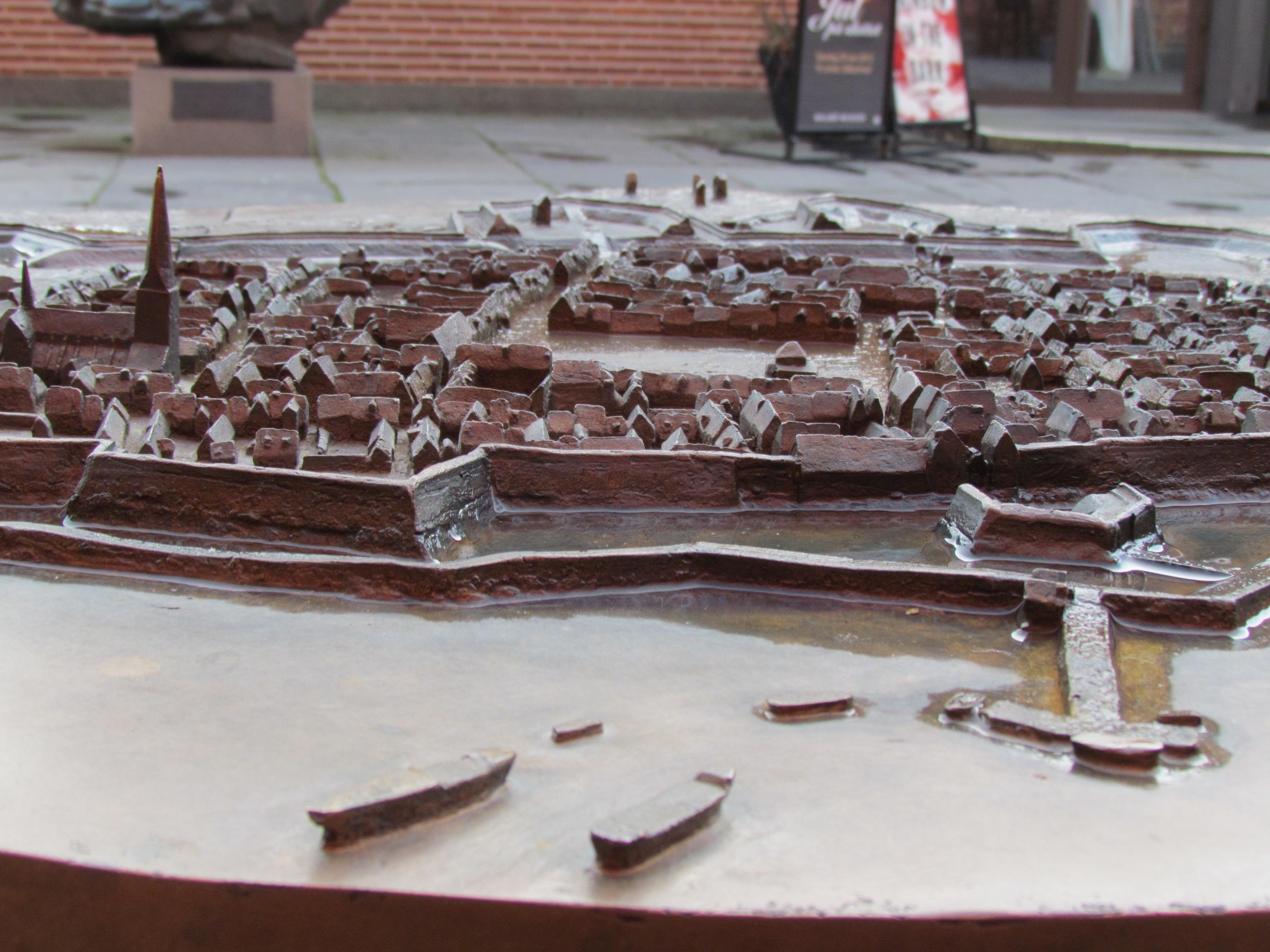 Skulptur över Malmös stadskärna.