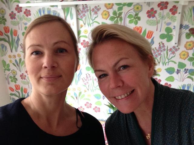 Ewa-Lotta Benndoff och Sanna Sjöstrand.