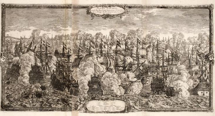 Södergatan på 1600-talet, skiss av Einar Bager, Malmö Stadsarkiv
