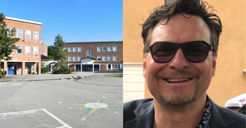 Augustenborgsskolan och man.
