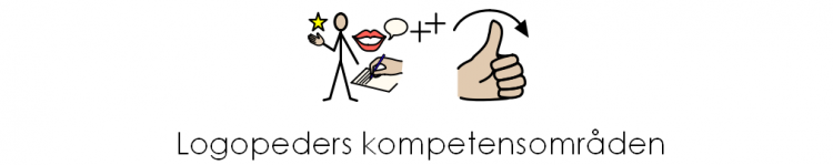Bildstöd visar logopeders kompetensområden.