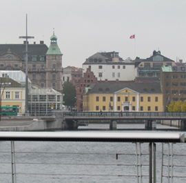 Vy över centrala Malmö.