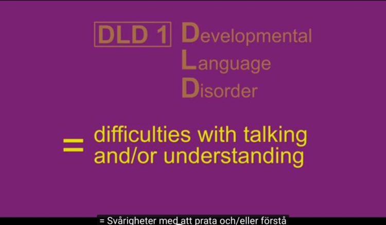 Text om att DLD står står difficulties with talking and/or understanding.
