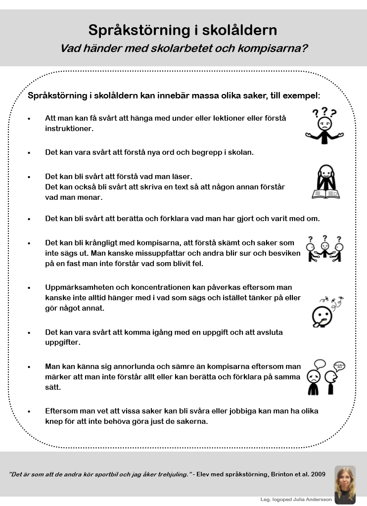 Fakta om språkstörning för barn.