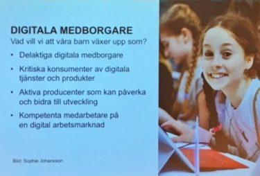 Presentation med lista över digitala medborgare.