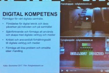 Presentation med lista över digital kompetens.