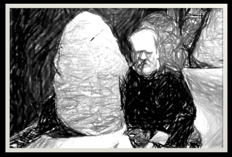 Tecknad Björn Westerström.