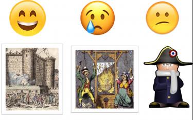 Tre emojis.