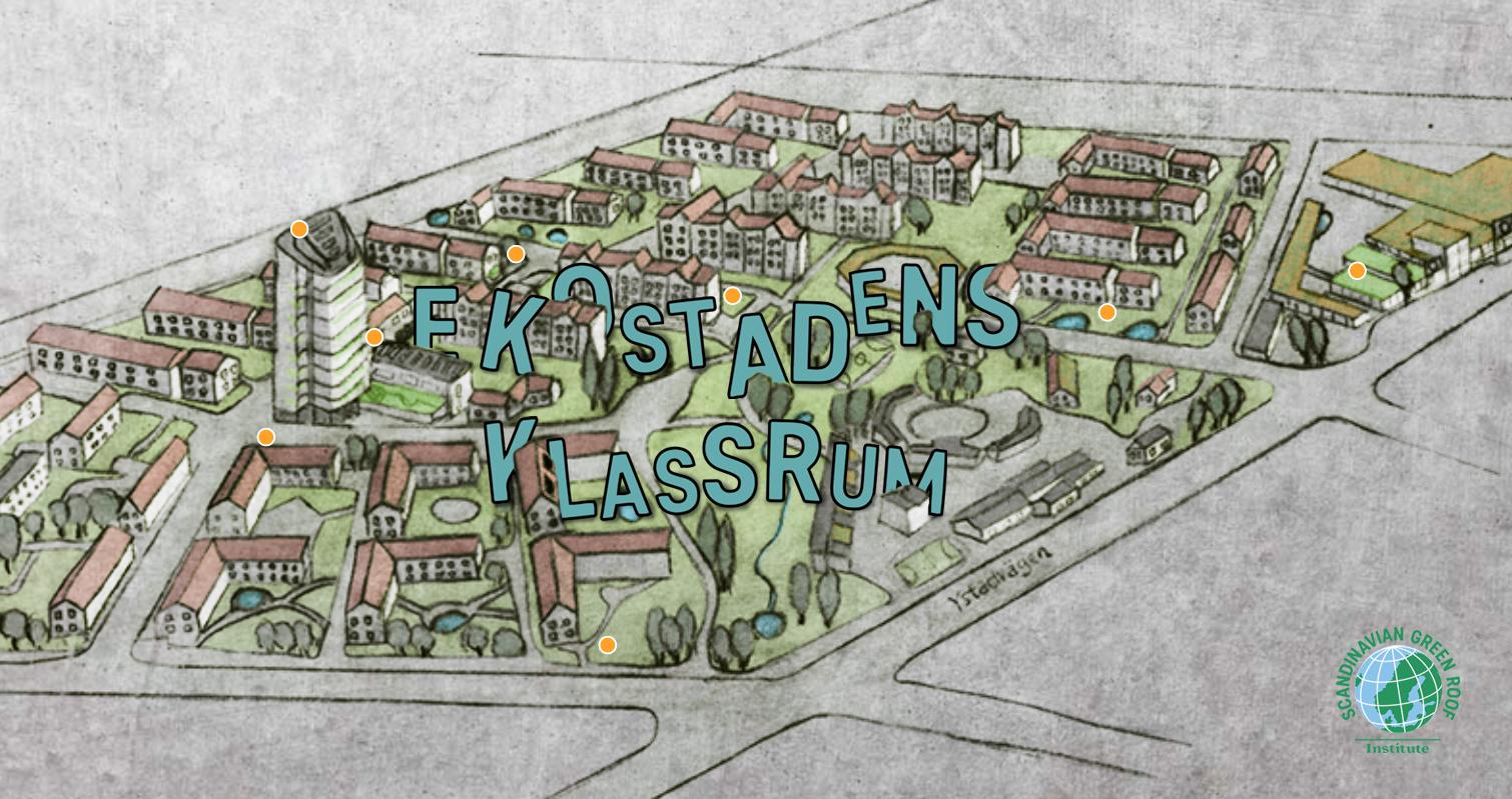 Teckning över Ekostaden.