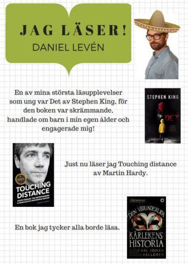 Affisch med text av Daniel Leven.