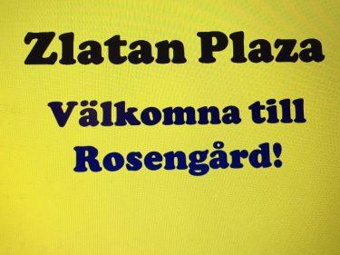 Skylt som välkomnar till Rosengård.