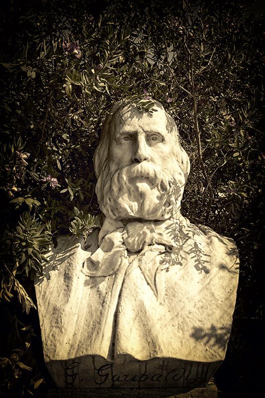 Byst av Giuseppe Garibaldi.