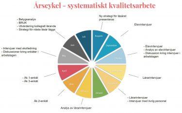 Cirkeldiagram som visar systematiskt kvalitetsarbete.