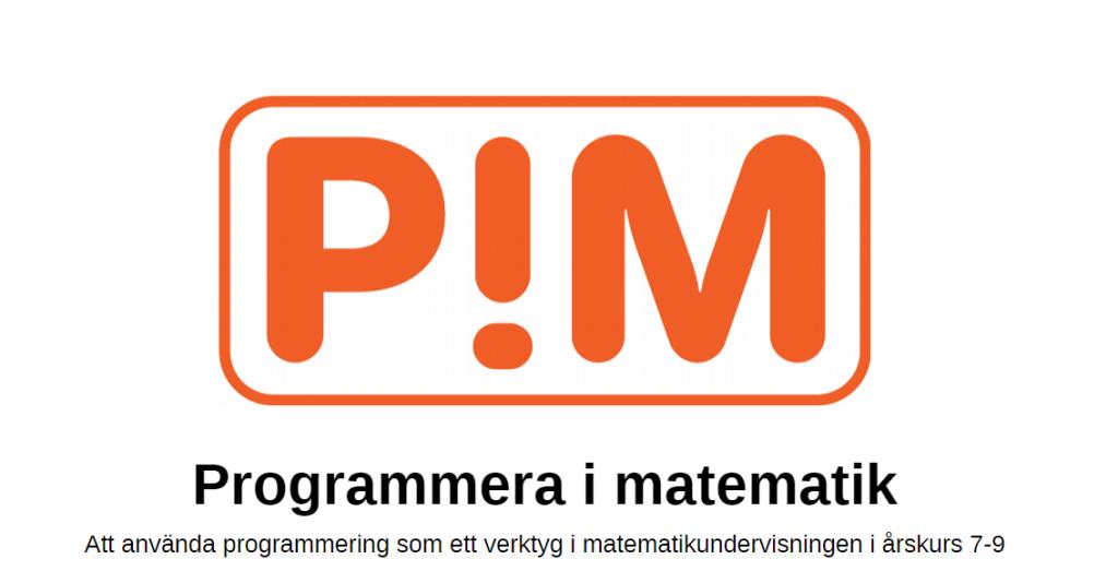 Logotype för programmera i matematik.
