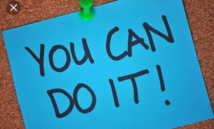 Fastnålad lapp med uppmaning om att du klarar det.