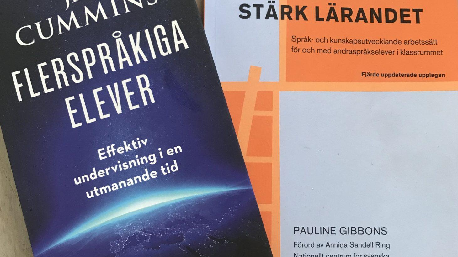 Bokomslag till Flerspråkiga elever och Stärk språket - stärk lärandet.