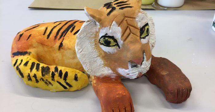 Tiger i kermaik.