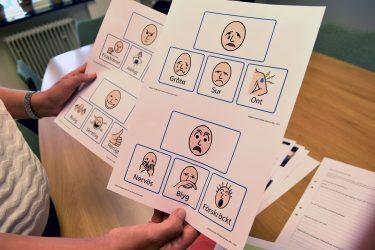 Bildstöd som visar olika känslor.