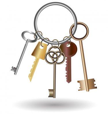 Nycklar på nyckelring.