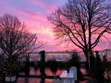 Solnedgång över Ystad.