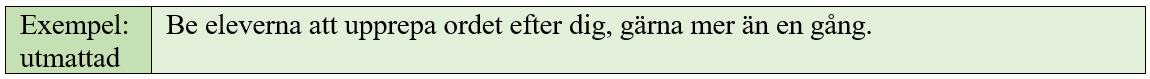 Ett exempel på utvidgat skrivande.
