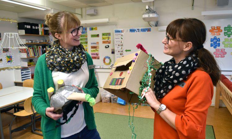 Maria Nero och Sara Asplund, förskollärare på Husieskolan.