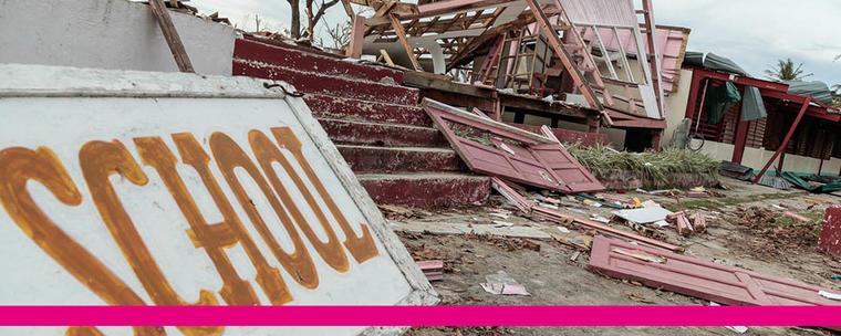 Byggnader som kollapsat.