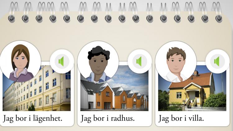 Avbild över Hej Svenska med flera olika bilder.