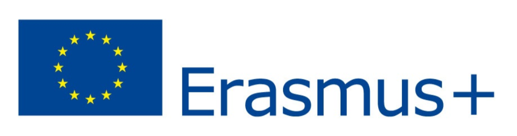 EU-falgga och texten Erasmus+