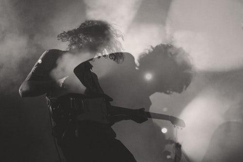 Suddig gitarrist