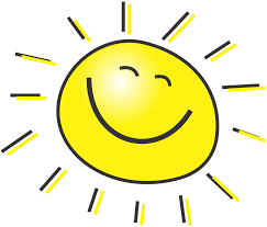 Tecknad glad sol.