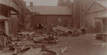 Bild från verkstaden på Davidshall.