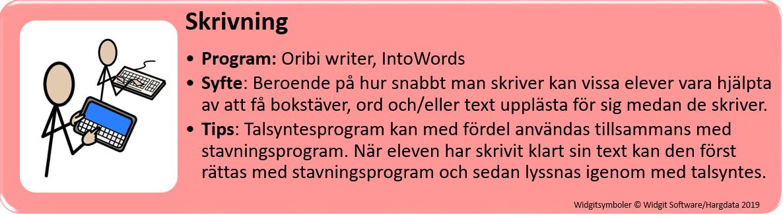 Tips om program för skrivning.