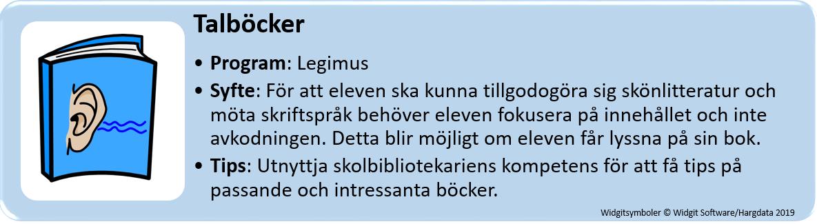 Tips om program för talböcker.