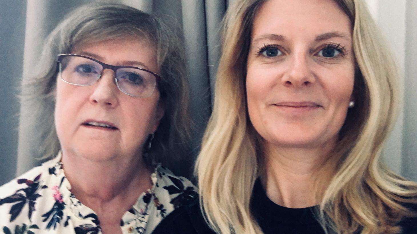 Eva Henriksson Garatea och Emma Wiking.