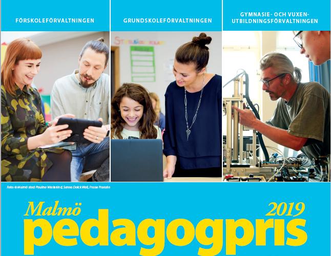 Affisch för Malmö Pedagogpris.