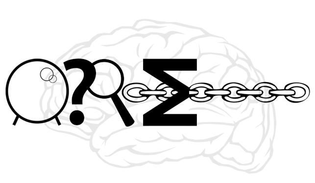 Tecknad hjärna.