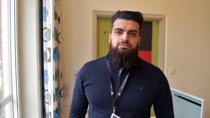 Rashid Resk, elevkoordinator på Hermodsdalsskolan.