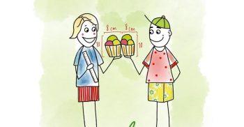 Tecknad man och kvinna håller i muffins som de har mätt så det blir rättivst.