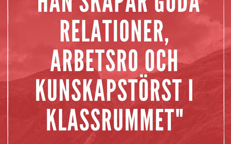 Motiveringstext för malmö pedagogpris 2019.