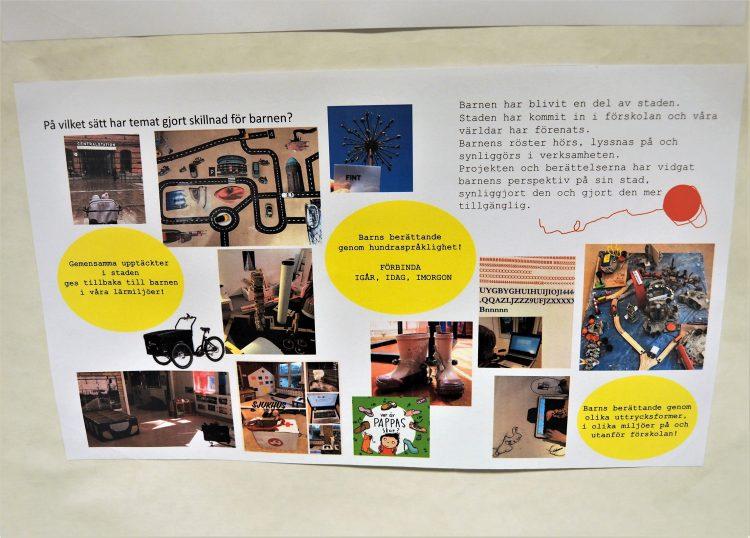Bild med text som beskriver resultat och utvärdering av projektet.