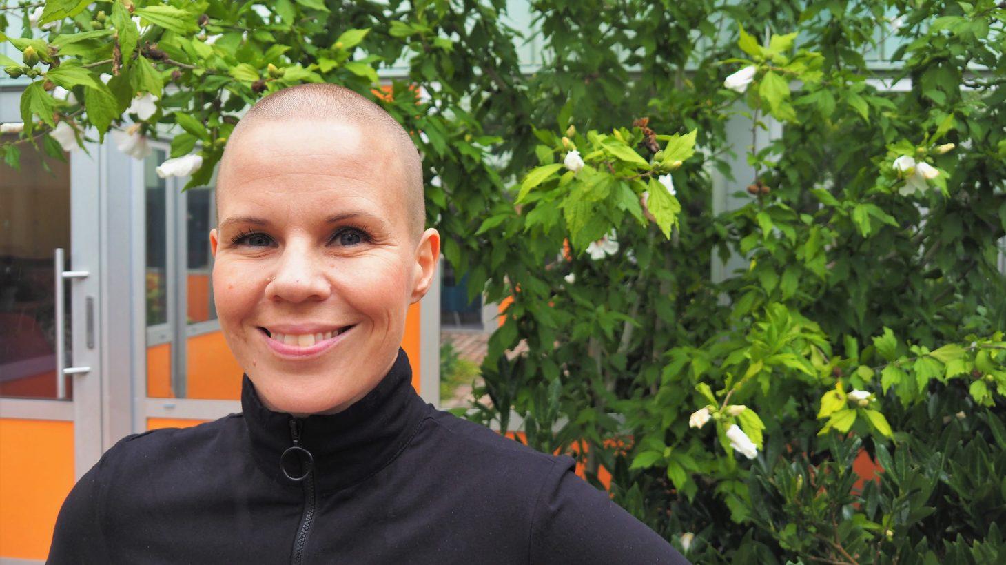 Lina Wegendal, skolbilbiotekarie för Oxievångsskolan F-6.