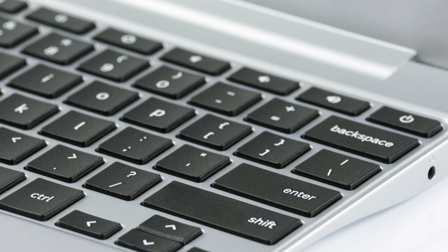 Närbild på ett tangentbord